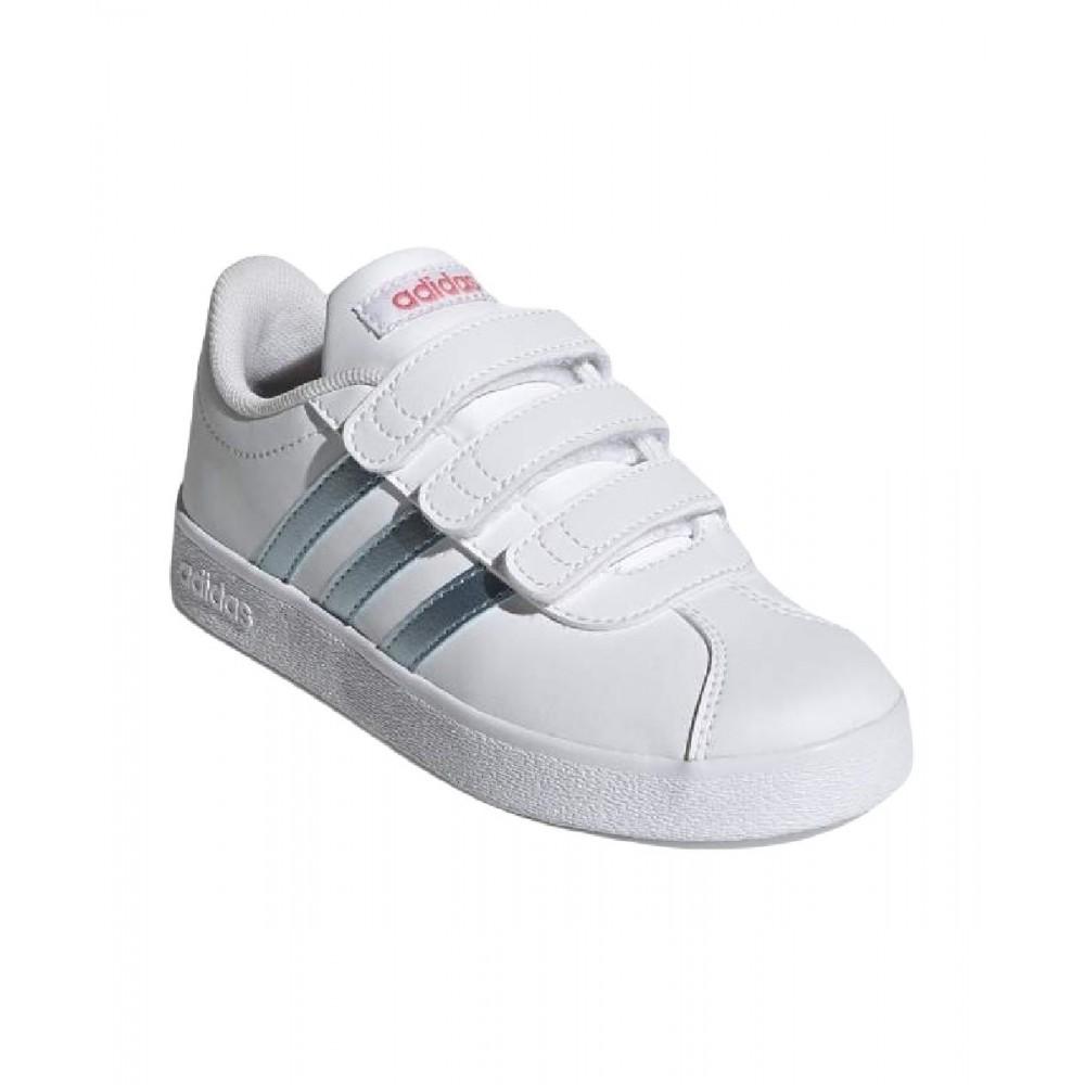 Adidas VL Court 2.0 Παιδικά Παπούτσια λευκό GW2341