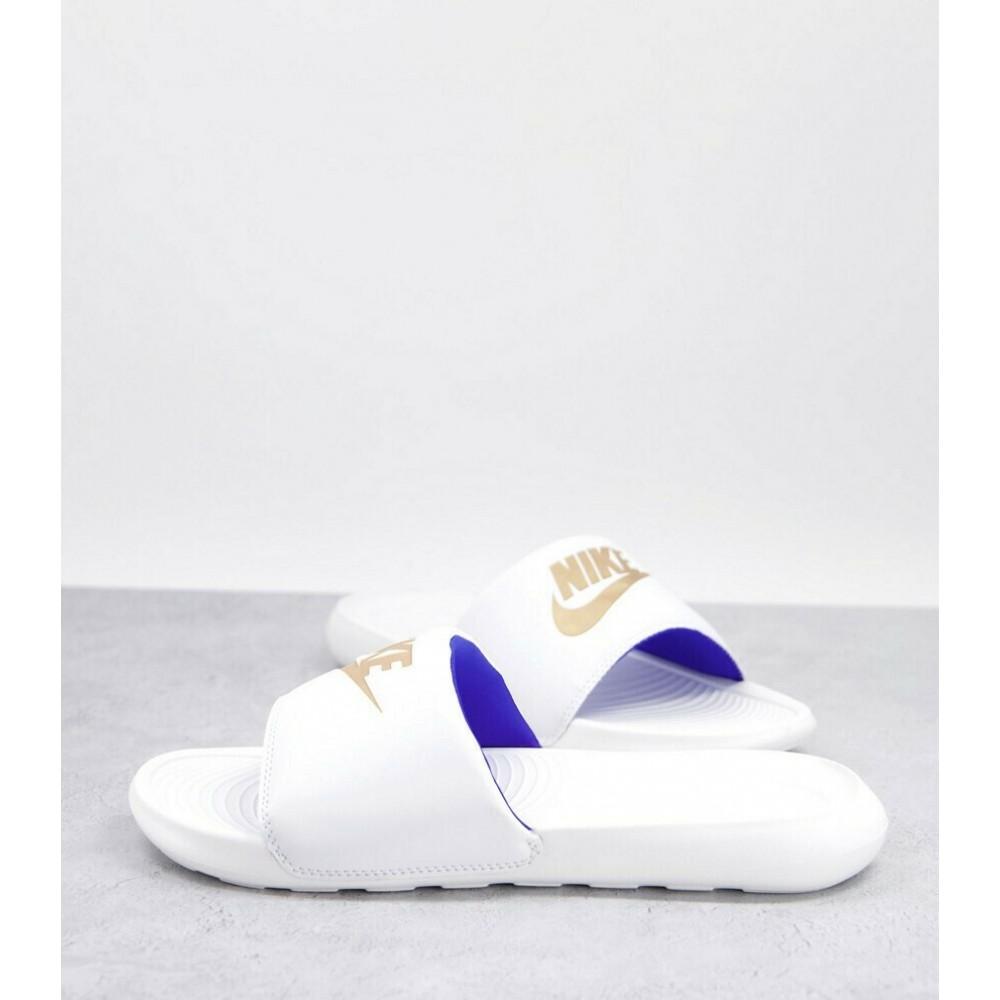 Nike Victori One Ανδρικές Σαγιονάρες λευκές CN9675-105
